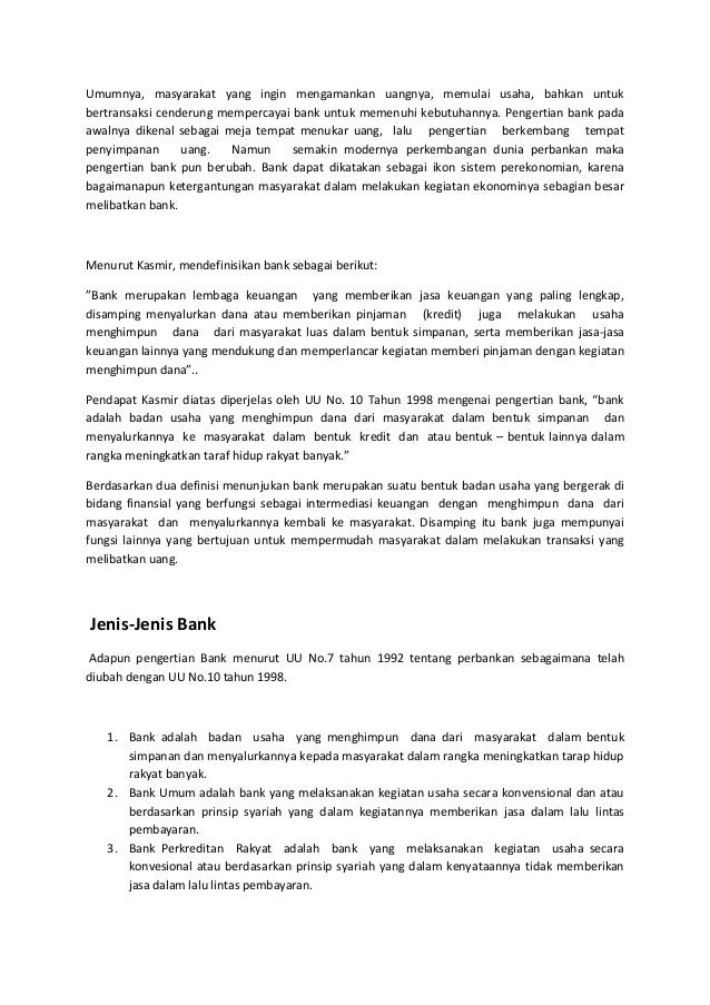 Pengertian Bank Lengkap Dari Jenis Dan Fungsinya Hingga Undang Undang