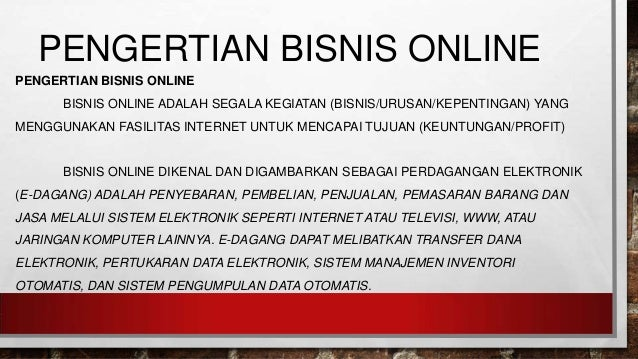 pengertian online