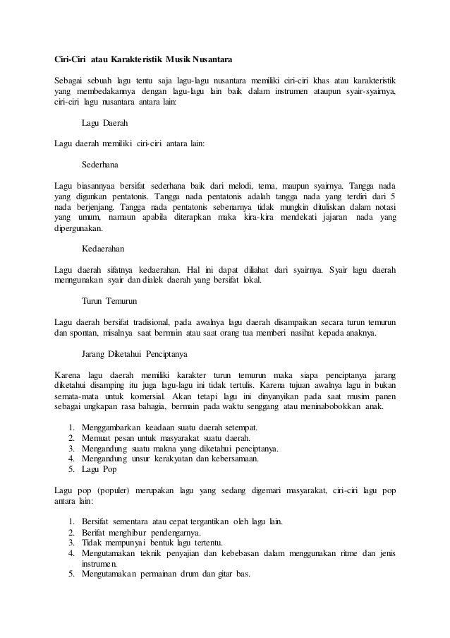Sebutkan Tangga Nada Pentatonis Dari Jawa Tengah