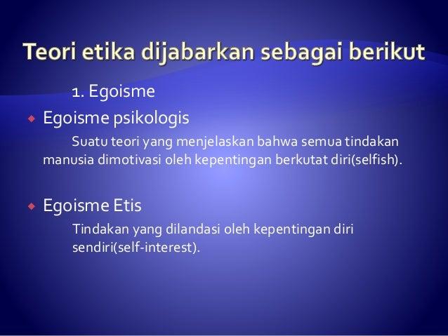 Pengertian Etika Dan Teori Etika