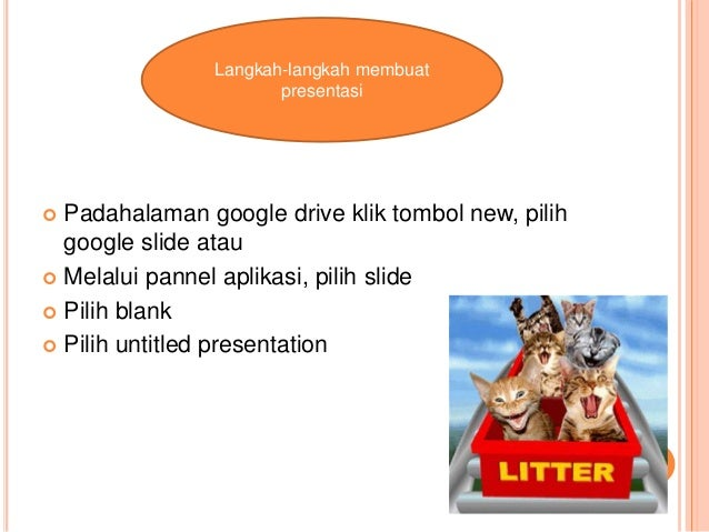  Padahalaman google drive klik tombol new, pilih google slide atau  Melalui pannel aplikasi, pilih slide  Pilih blank ...