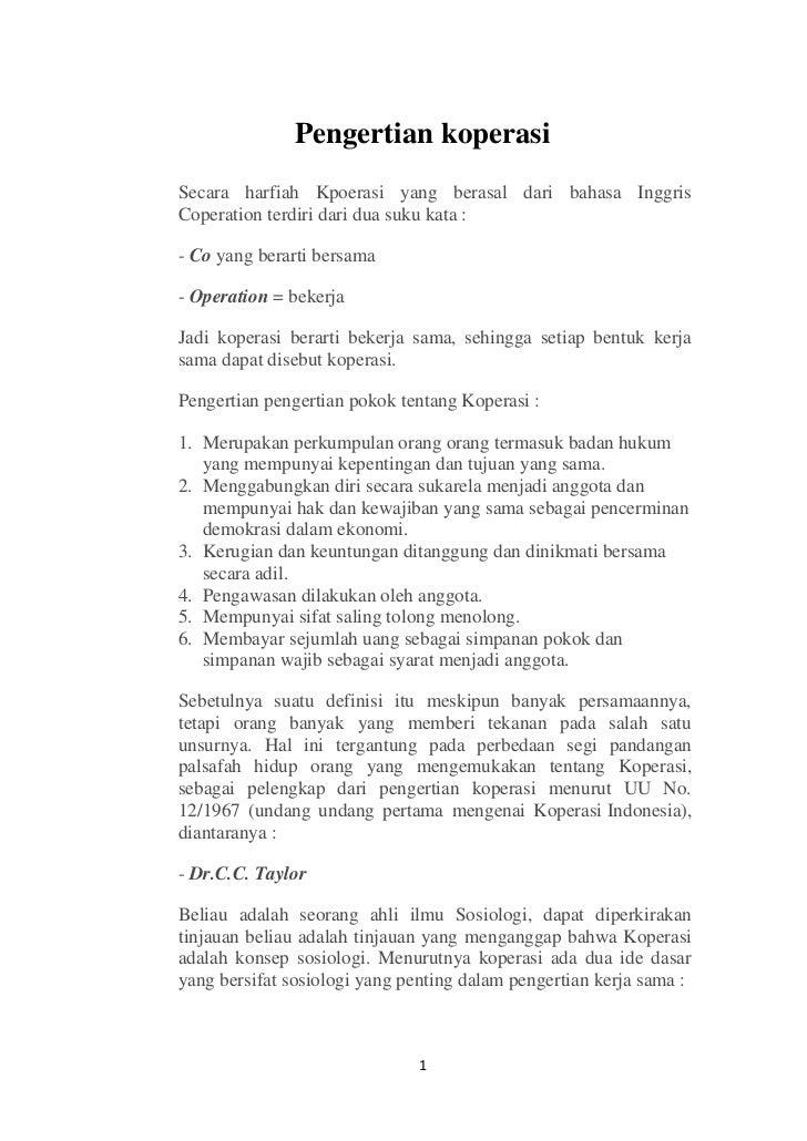 Apa Arti Koperasi Sebagai Soko Guru Perekonomian Indonesia ...