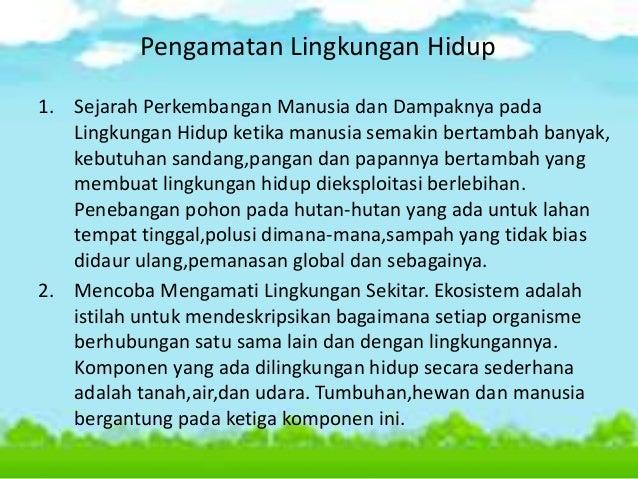 Pengertian lingkungan hidup dan permasalahannya