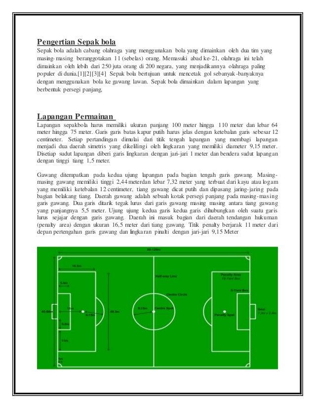 Pengertian Teknik Dasar Dan Peraturan Permainan Sepak Bola