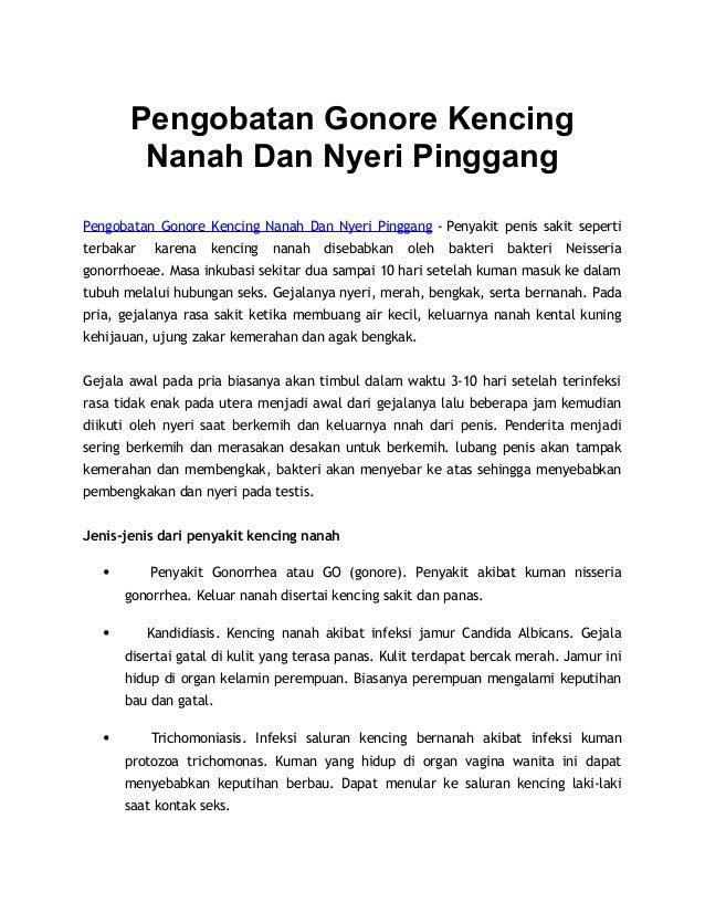 Pengobatan Gonore Kencing Nanah Dan Nyeri Pinggang Pengobatan Gonore Kencing Nanah Dan Nyeri Pinggang - Penyakit penis sak...