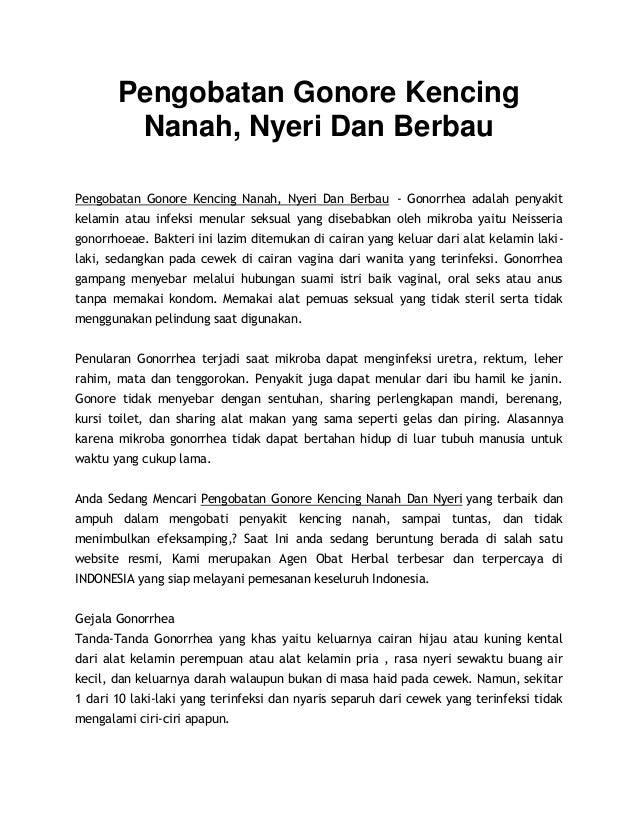 Pengobatan Gonore Kencing Nanah, Nyeri Dan Berbau Pengobatan Gonore Kencing Nanah, Nyeri Dan Berbau - Gonorrhea adalah pen...