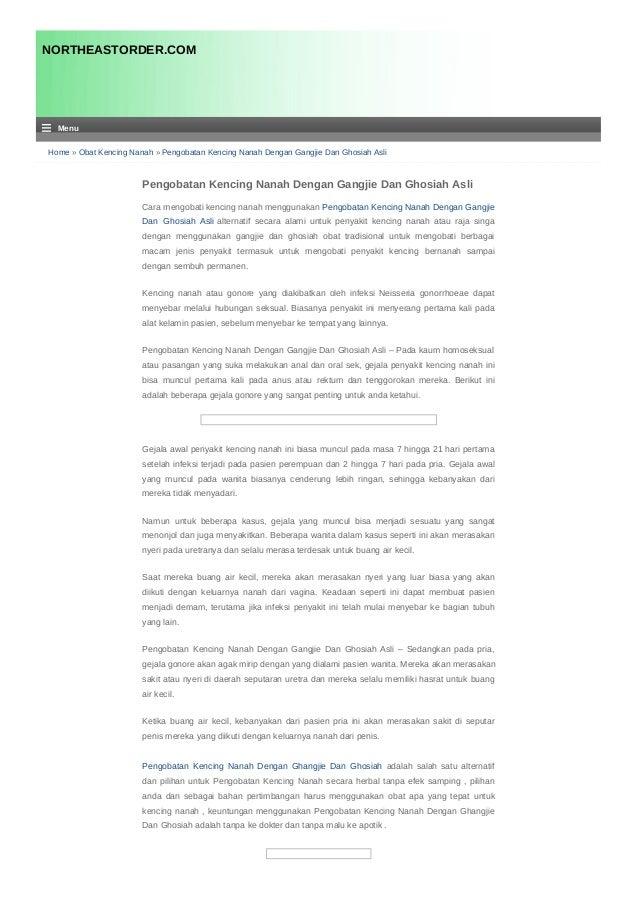 Home » Obat Kencing Nanah » Pengobatan Kencing Nanah Dengan Gangjie Dan Ghosiah Asli Pengobatan Kencing Nanah Dengan Gangj...