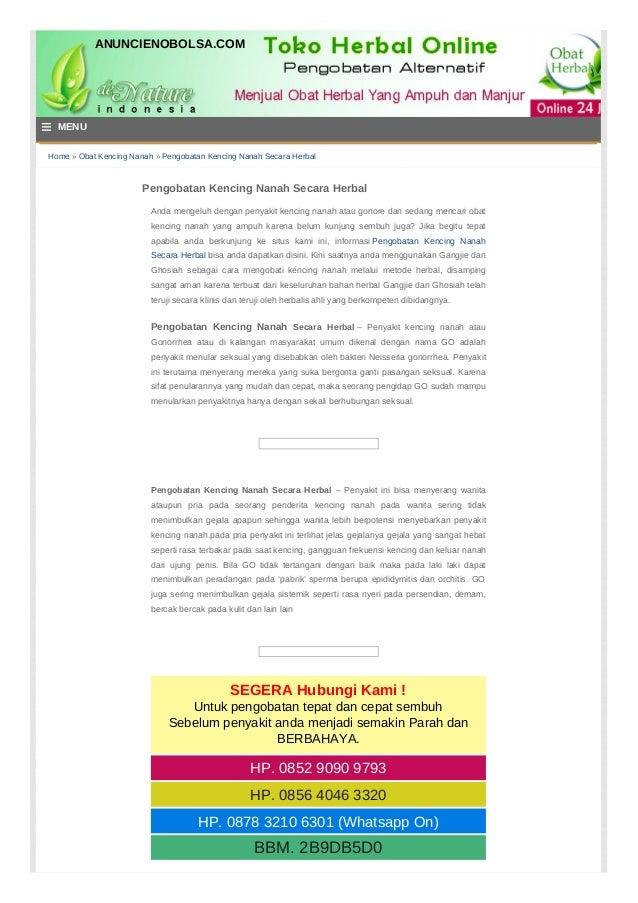 Home » Obat Kencing Nanah » Pengobatan Kencing Nanah Secara Herbal Pengobatan Kencing Nanah Secara Herbal Anda mengeluh de...