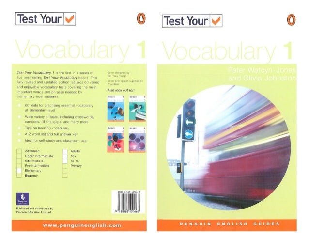test your vocabulary in use elementary pdf