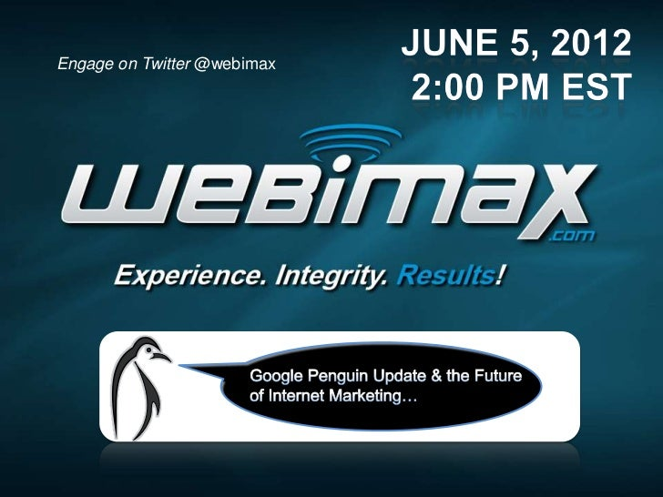 Engage on Twitter @webimax