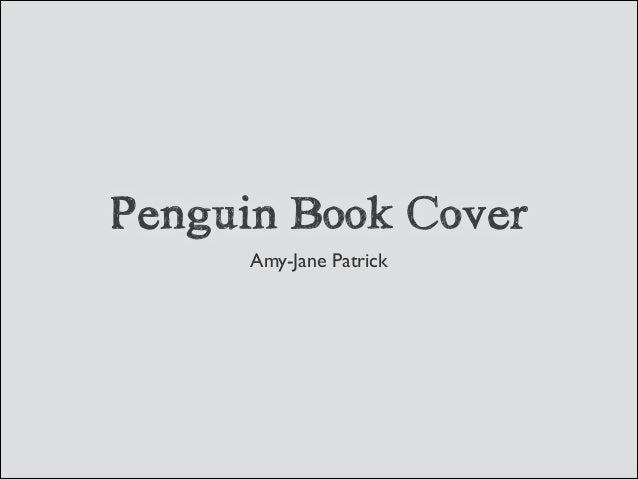 Penguin Book Cover Amy-Jane Patrick