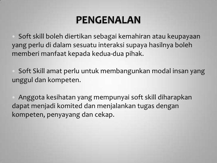 Soft Skill In Malay