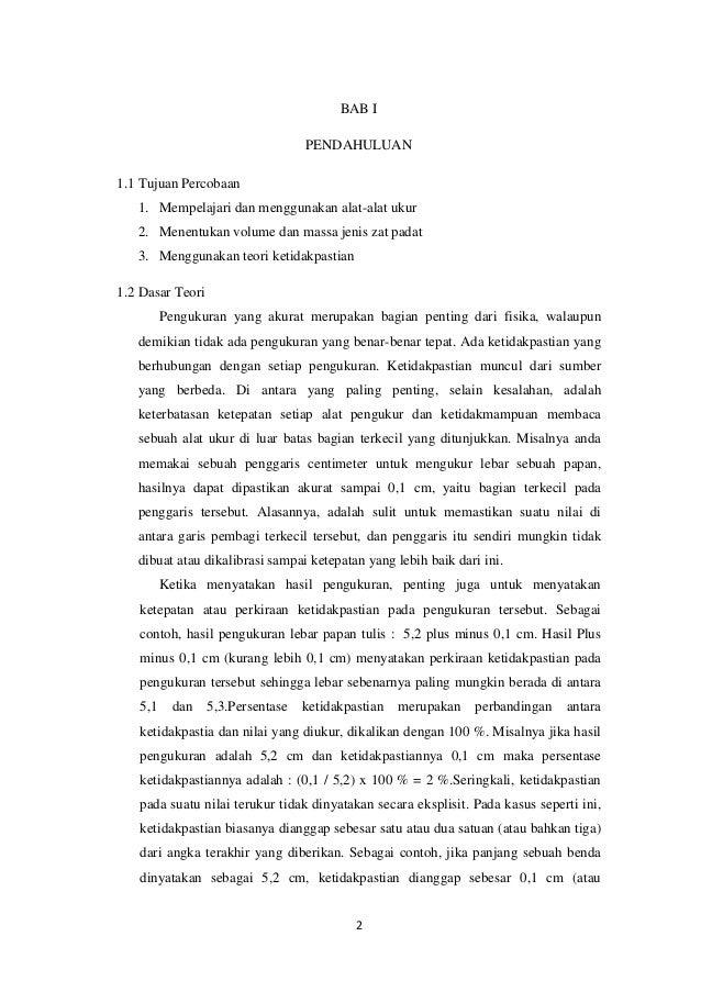 Laporan Praktikum Fisika Pengukuran Dasar Pada Benda Padat