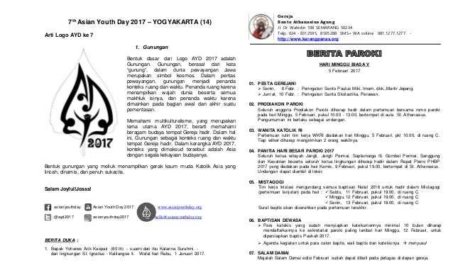 7th Asian Youth Day 2017 – YOGYAKARTA (14) Arti Logo AYD ke 7 1. Gunungan Bentuk dasar dari Logo AYD 2017 adalah Gunungan....