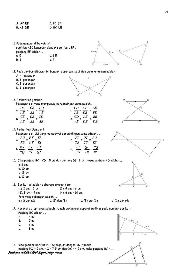 Pengayaan Matematika SMP un 2012