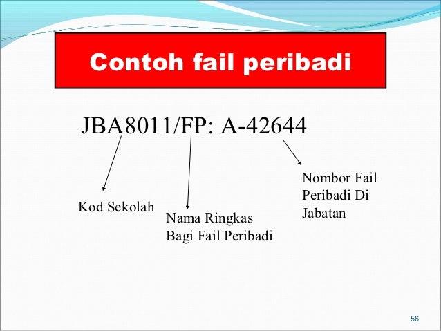 Contoh fail peribadiJBA8011/FP: A-42644                                   Nombor Fail                                   Pe...