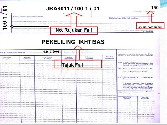 150100-1 / 01              JBA8011 / 100-1 / 01                                       NO. PENDAFTAR FAIL                  ...