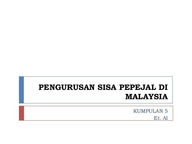 Pengurusan Sisa Pepejal Di Malaysia