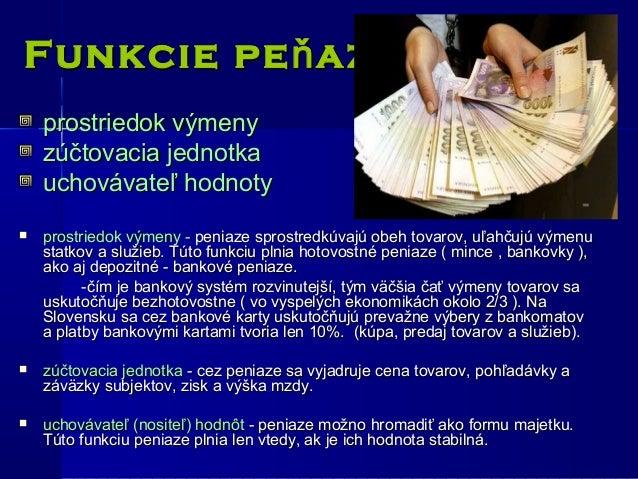 Peniaze, inflcia, bankov intitcie : Ekonomika