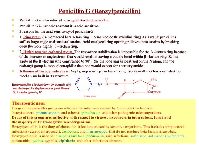 Physical And Chemical Properties Of Penicillin