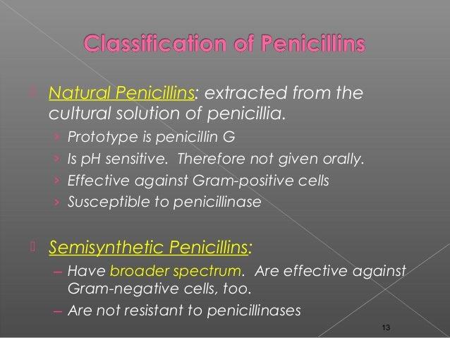 Natural Penicillin Vs Semi Synthetic Penicillin