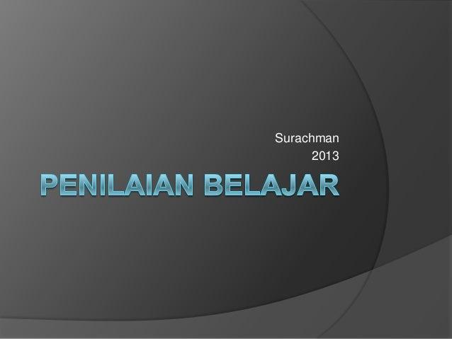 Surachman 2013