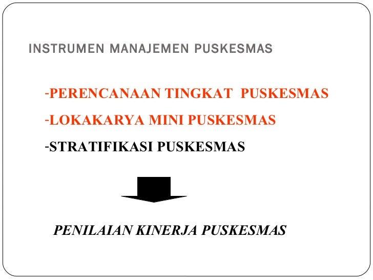 Penilaian kinerja puskesmas Slide 2
