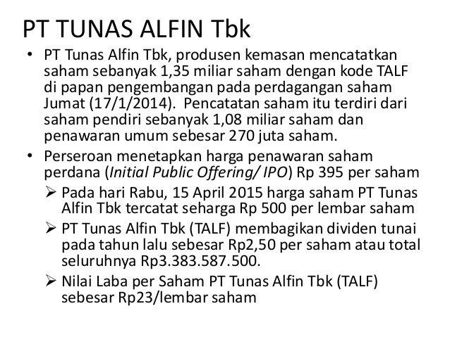 Tunas alfin ipo idx prospectus