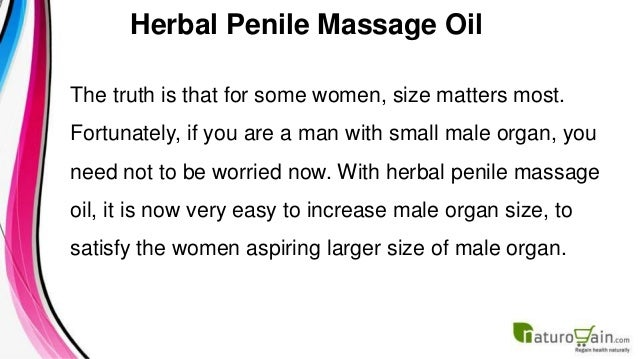 how to make penis massage oil