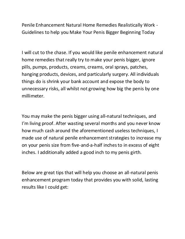 How can you make your penis bigger naturally