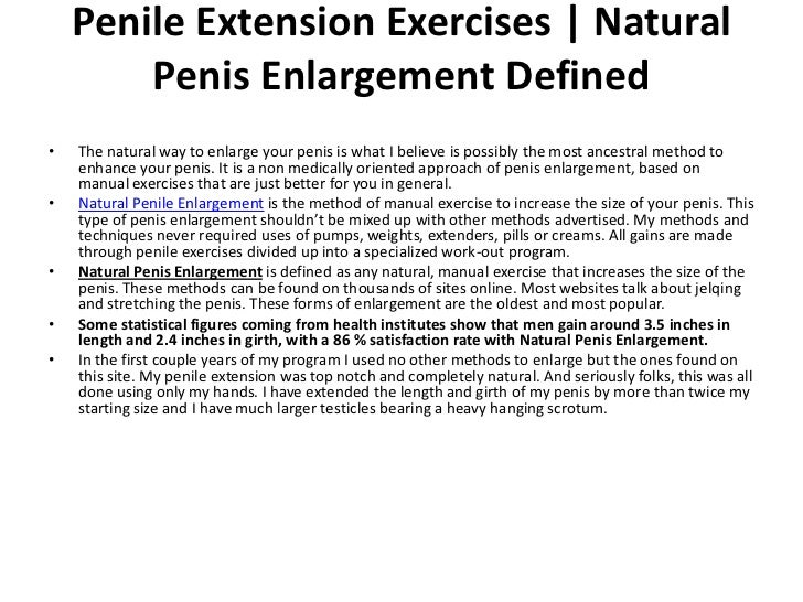 Exercise for pennis growth