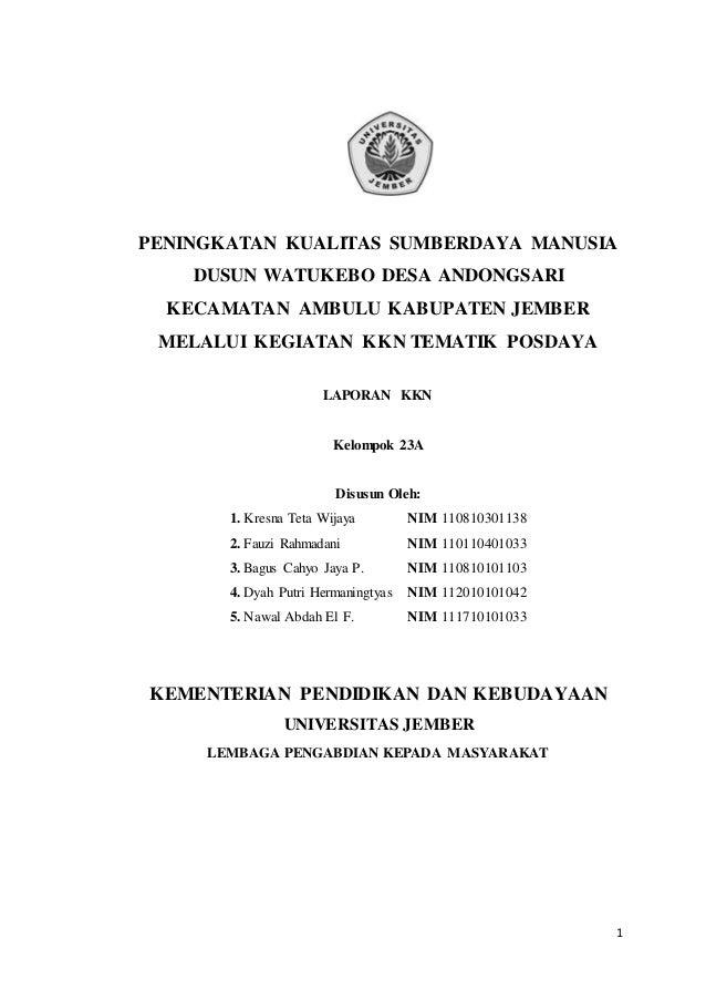 Peningkatan Kualitas Sumber Daya Manusia Dusun Watukebo Kecamatan Amb