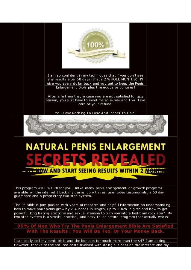 Does Natural Penis Enlargement Work
