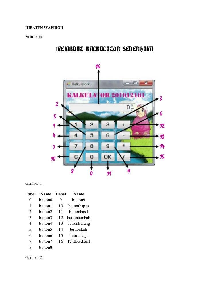 HIBATEN WAFIROH201012101                  MEMBUAT KALKULATOR SEDERHANA                                  16                ...