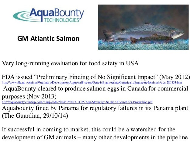 """Very long-running evaluation for food safety in USA FDA issued """"Preliminary Finding of No Significant Impact"""" (May 2012) h..."""