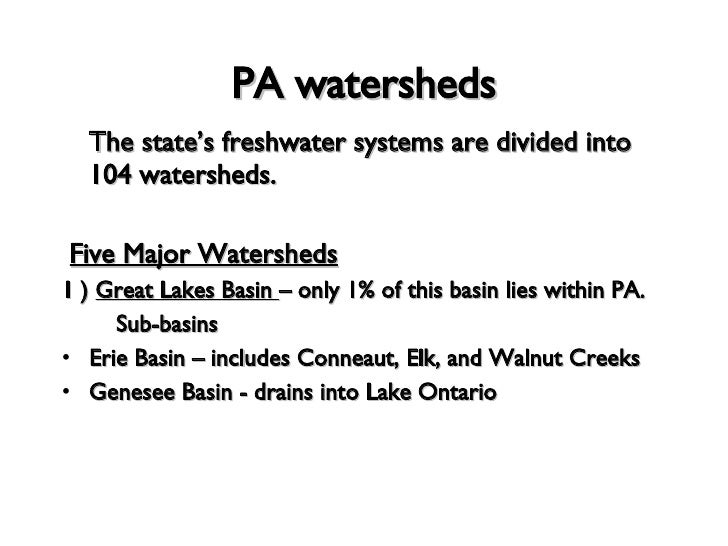 pennsylvania drainage patterns