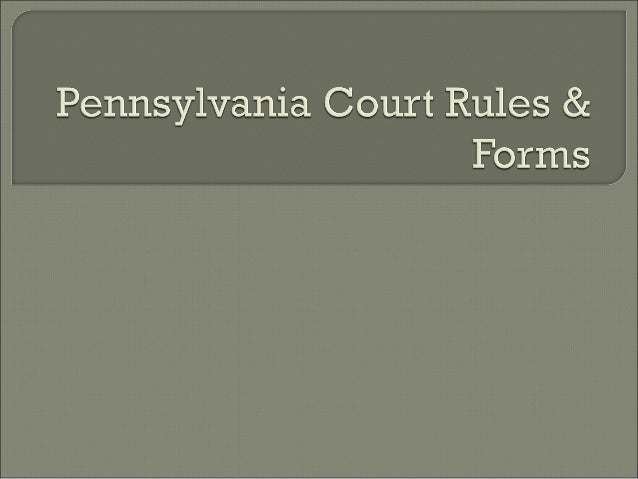 Procedural Rules