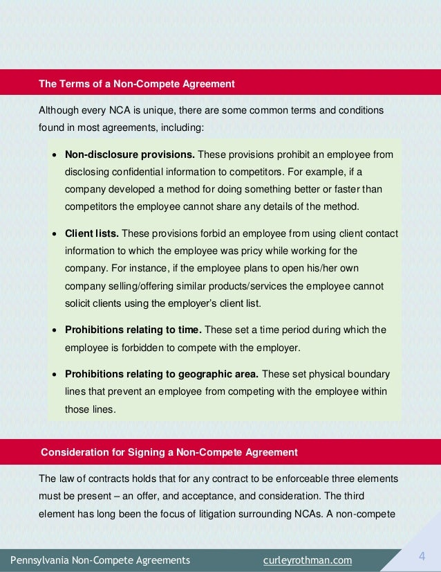 Non Compete Agreement Pa Image Collections Agreement Letter Format