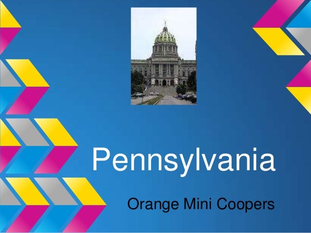 Pennsylvania  Orange Mini Coopers
