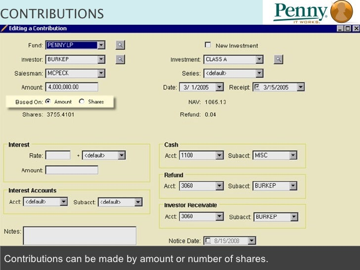 Accounting For Capital Contributions