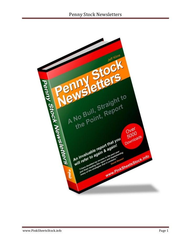 Penny Stock Newsletterswww.PinkSheetsStock.info                             Page 1