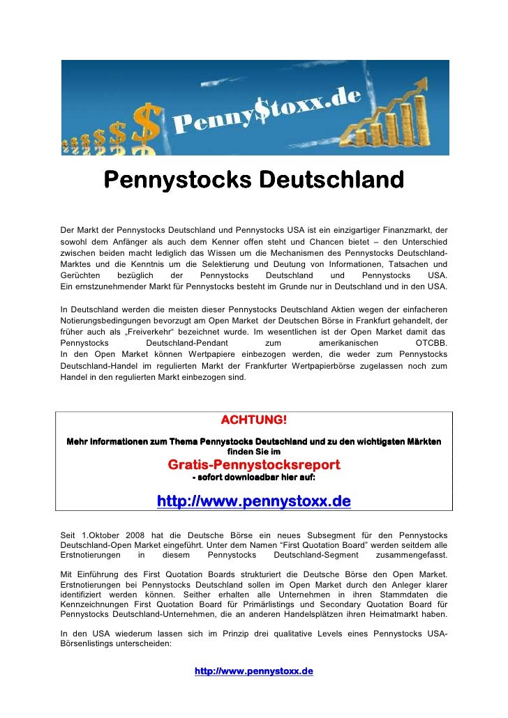 Pennystock Deutschland