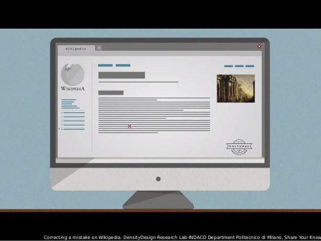 Correcting a mistake on Wikipedia. DensityDesign Research Lab-INDACO Department Politecnico di Milano, Share Your Know