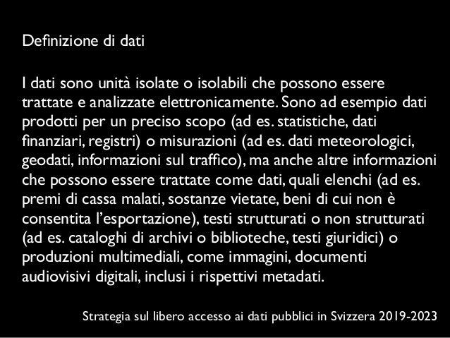 Open data e le agende culturali della Svizzera italiana Slide 3