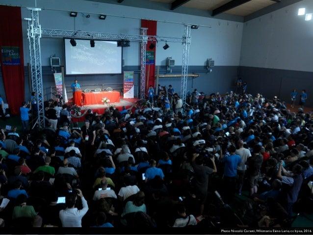 Photo Niccolò Caranti,Wikimania Esino Lario, cc by-sa, 2016.