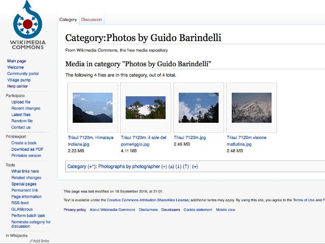 Cosa significa in Italia mettere la foto di un monumento su Wikipedia con la licenza Creative Commons attribuzione condivid...