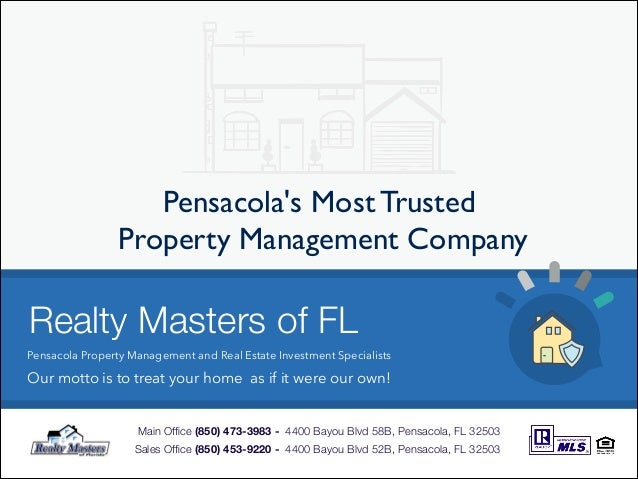 Pensacola Property Management- Realty Masters of Florida