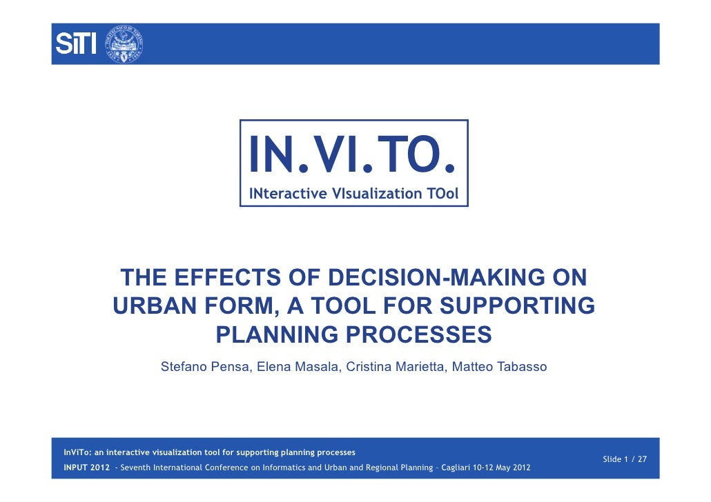 IN.VI.TO.                                               INteractive VIsualization TOol            THE EFFECTS OF DECISION-...
