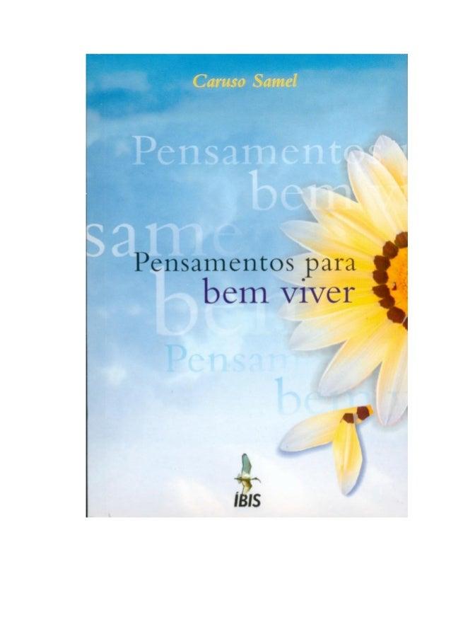 CARUSO SAMEL PENSAMENTOS PARA BEM VIVER 2ª edição