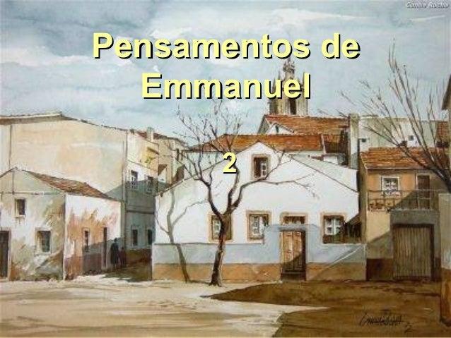 Pensamentos de  Emmanuel      2